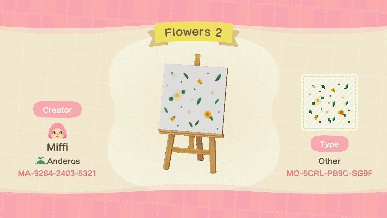 Flowers 2 - Animal Crossing: New Horizons Custom Design