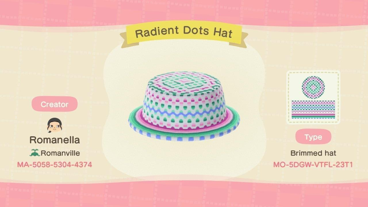 Radiant Dots Hat - Animal Crossing: New Horizons Custom Design