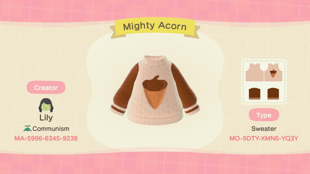 Mighty Acorn - Animal Crossing: New Horizons Custom Design