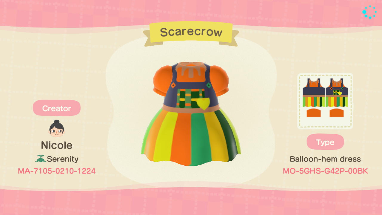Scarecrow Dress - Animal Crossing: New Horizons Custom Design