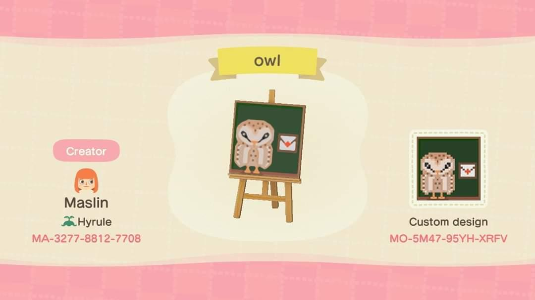 Owl coruja - Animal Crossing: New Horizons Custom Design