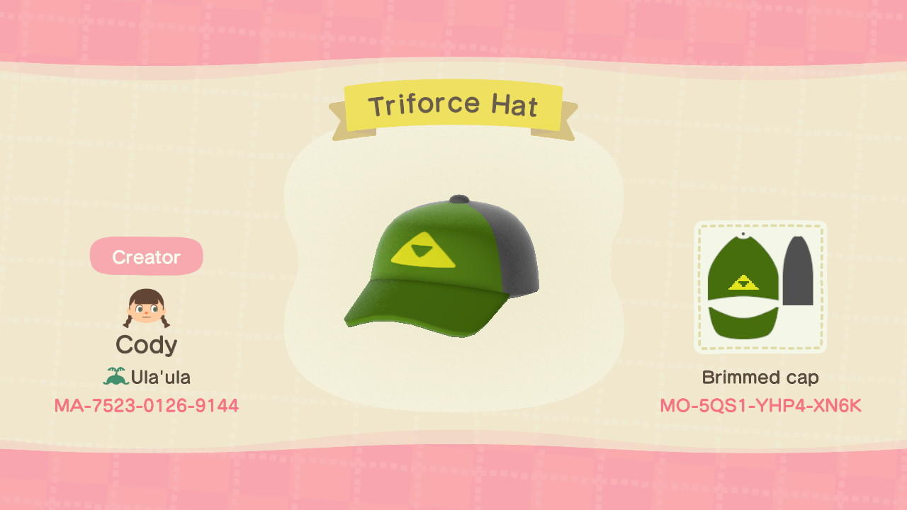 Triforce Hat - Animal Crossing: New Horizons Custom Design