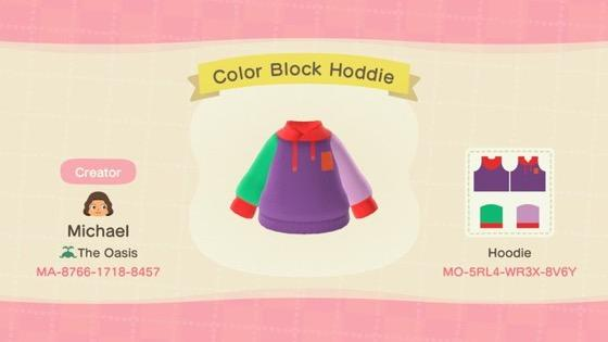 Color Block Hoodie - Animal Crossing: New Horizons Custom Design
