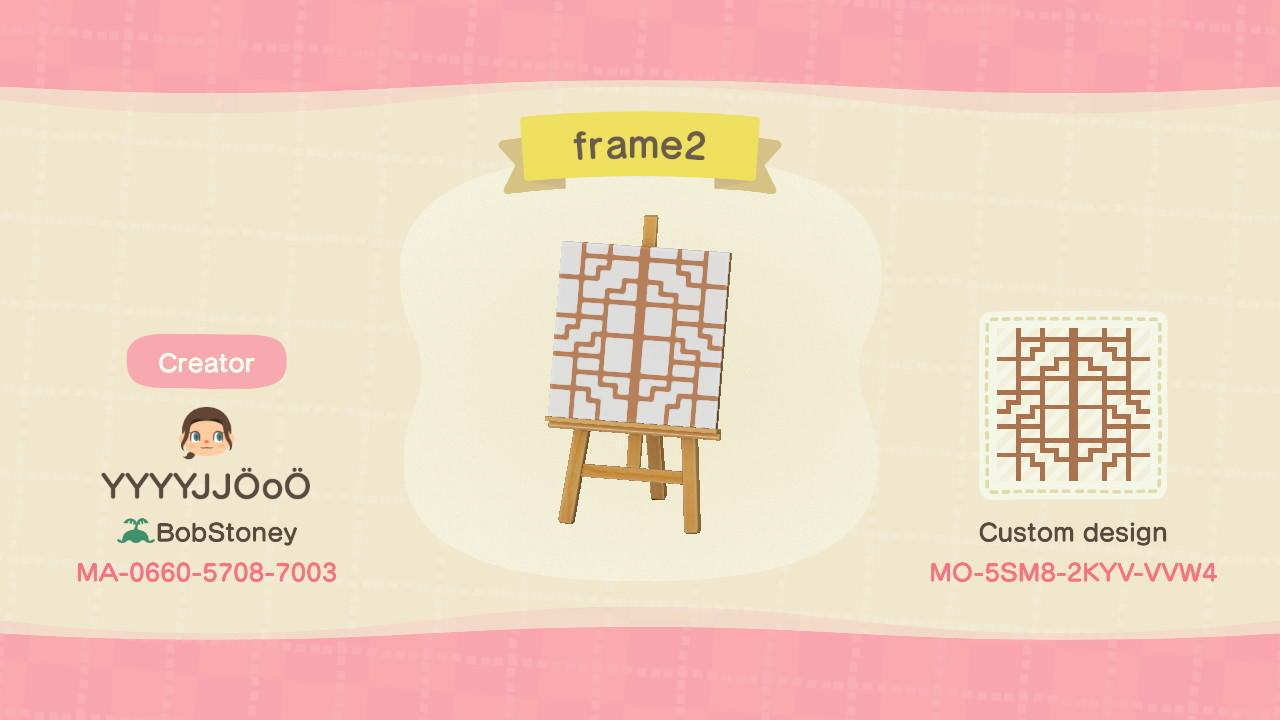 Frame - Animal Crossing: New Horizons Custom Design