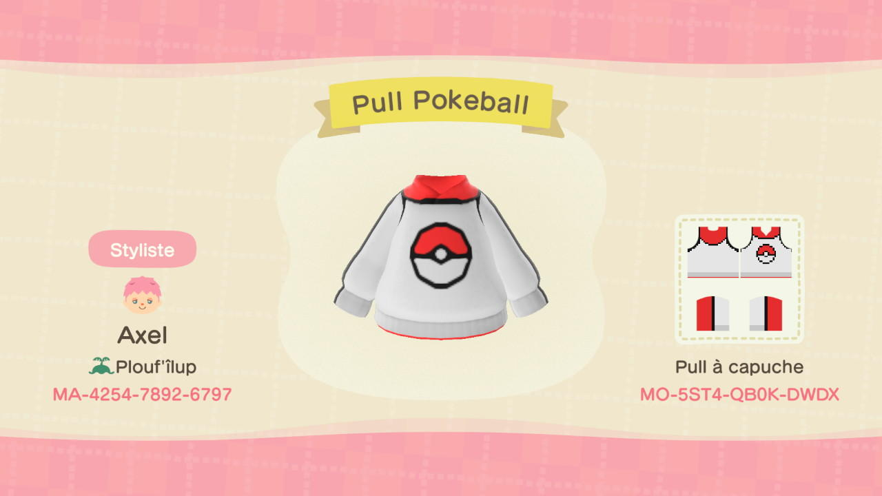 Pokeball (Pokemon) - Animal Crossing: New Horizons Custom Design