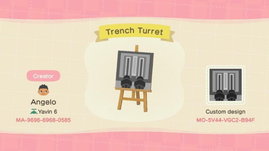 Trench Turret - Animal Crossing: New Horizons Custom Design