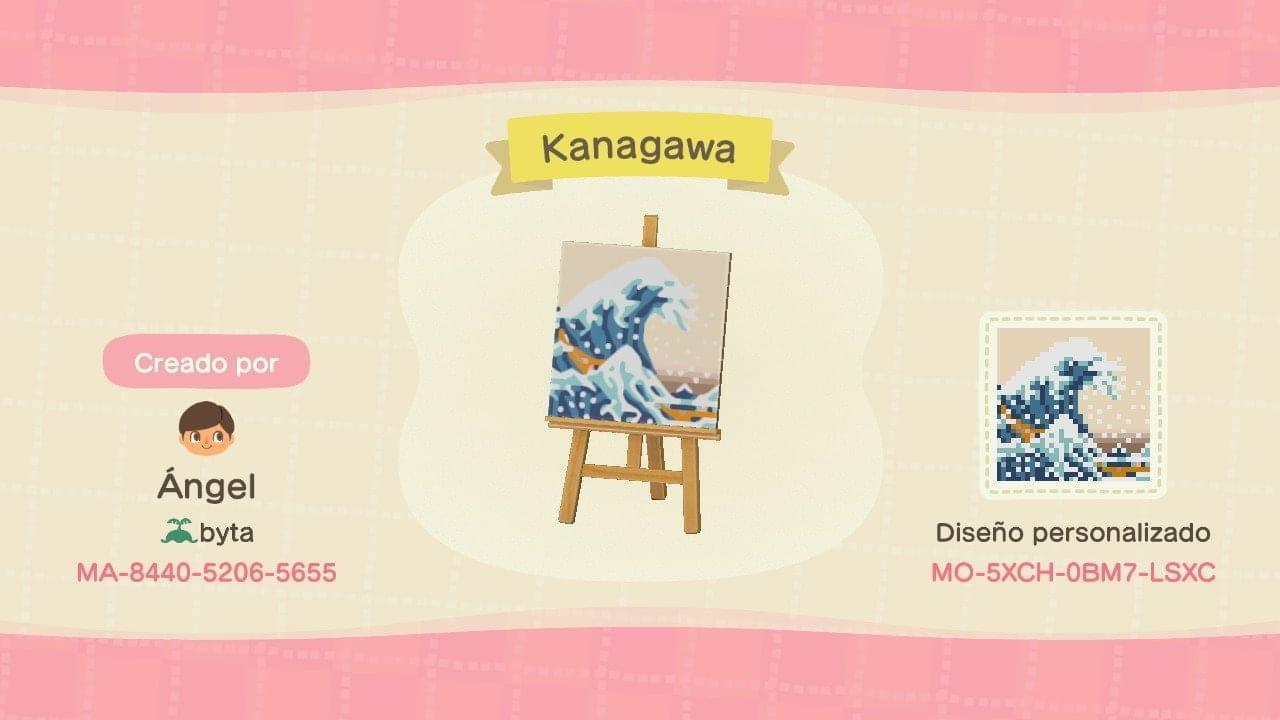 Kanagawa - Animal Crossing: New Horizons Custom Design