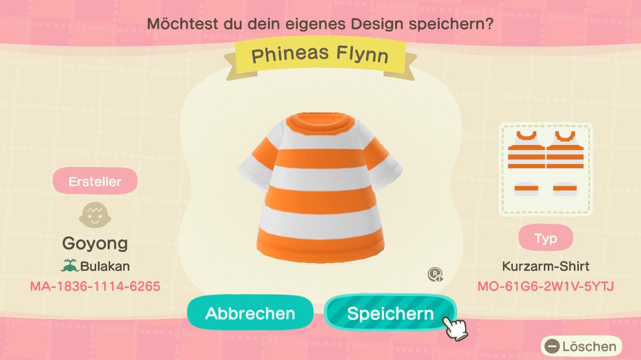 Phineas Flynn - Animal Crossing: New Horizons Custom Design