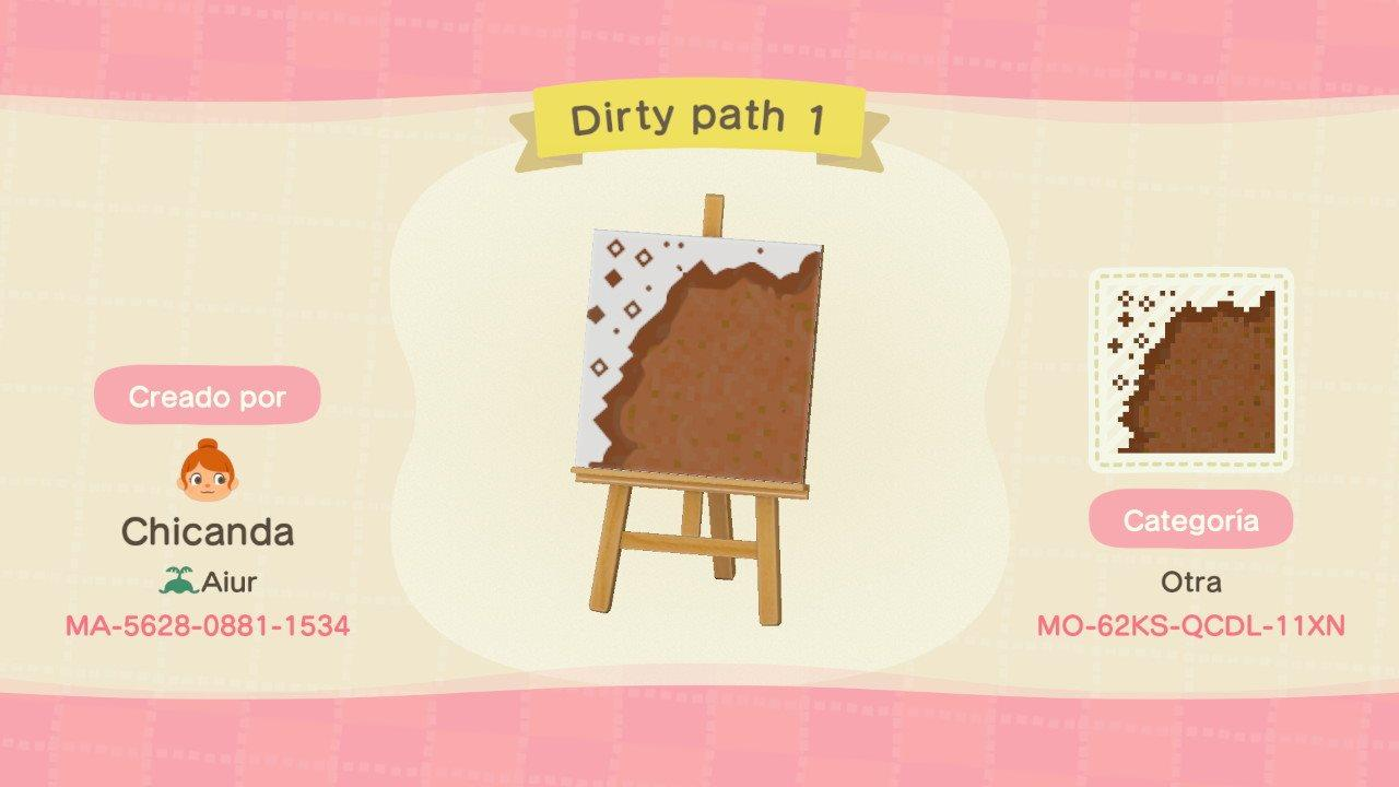 Dirty path 1 - Animal Crossing: New Horizons Custom Design