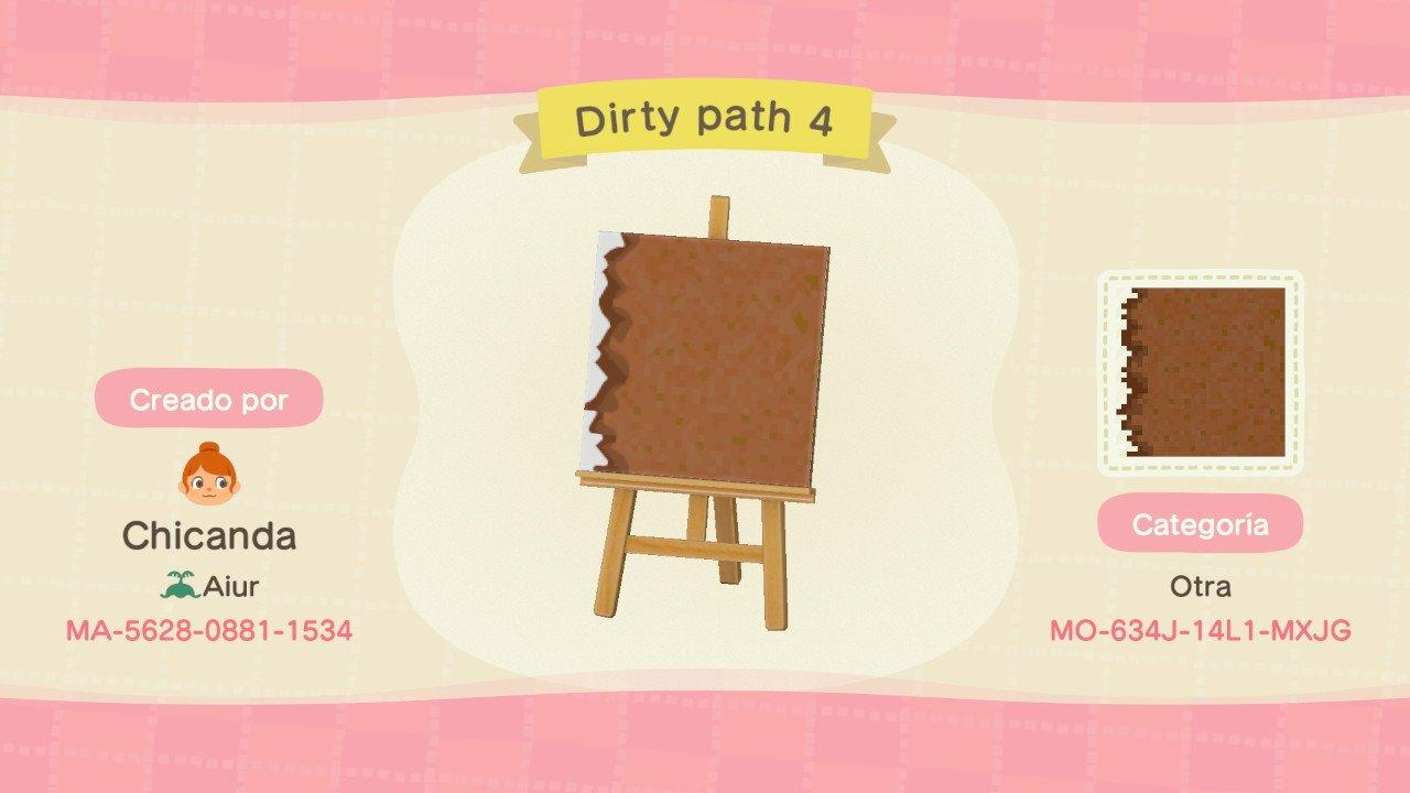 Dirty path 4 - Animal Crossing: New Horizons Custom Design