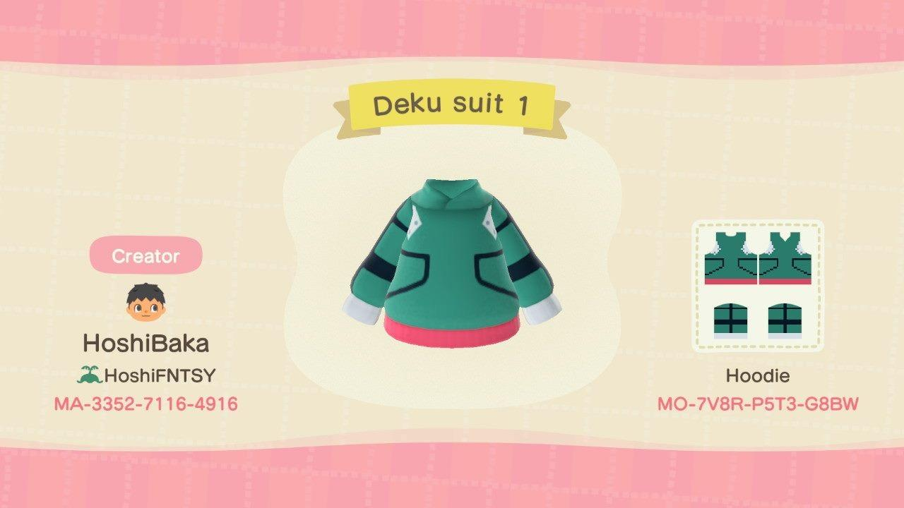 Deku Suit 1 - Animal Crossing: New Horizons Custom Design