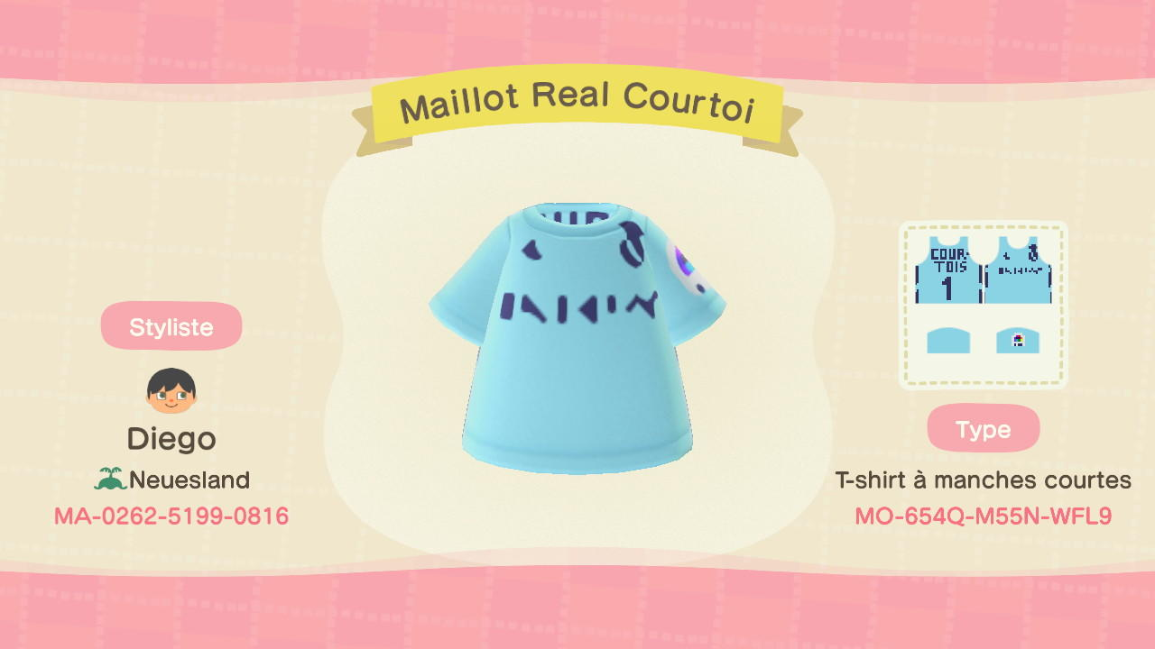 Maillot Real Courtoi - Animal Crossing: New Horizons Custom Design
