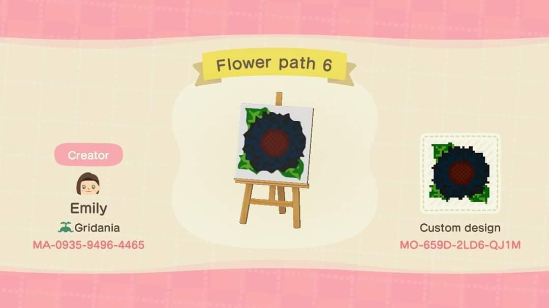 Flower Path 6 - Animal Crossing: New Horizons Custom Design