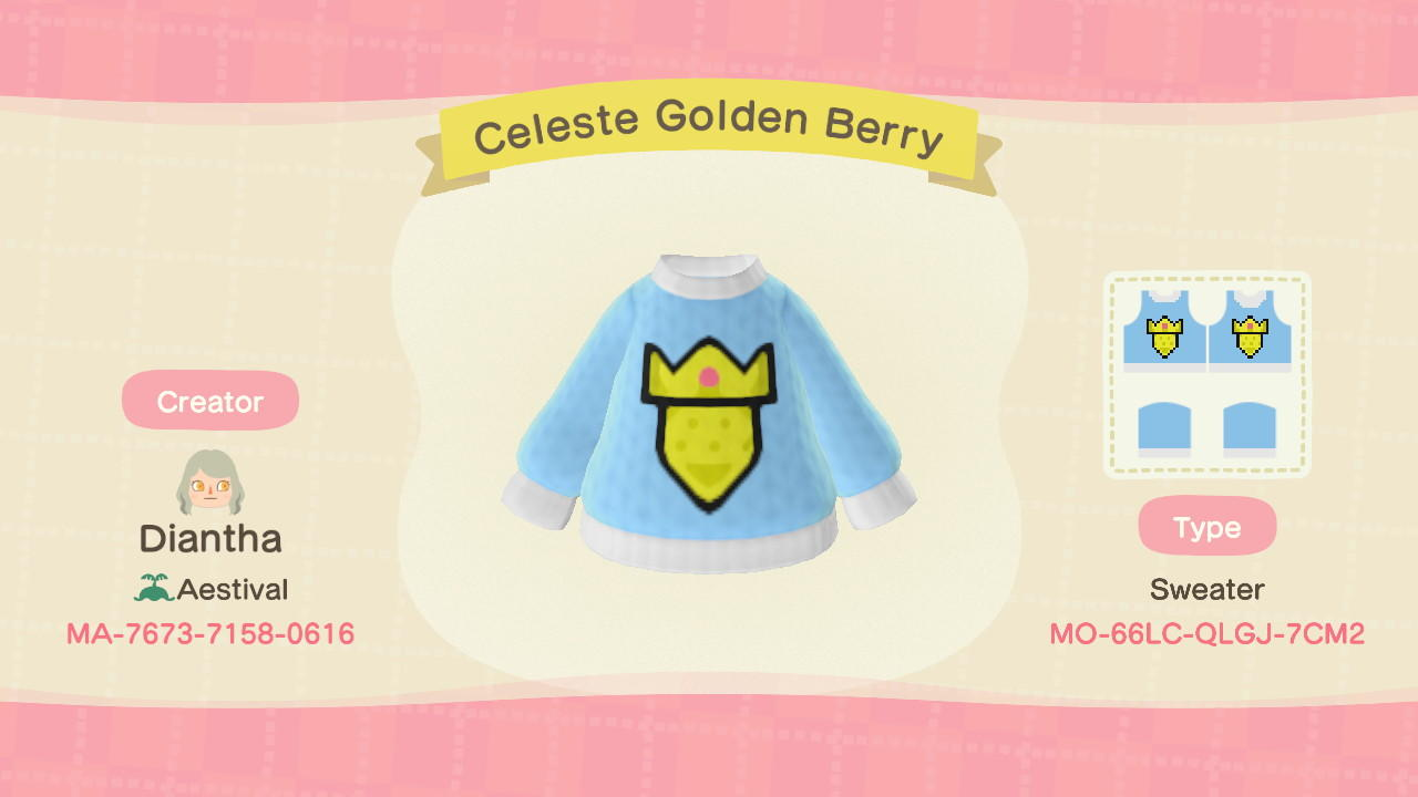 Celeste Golden Berry - Animal Crossing: New Horizons Custom Design