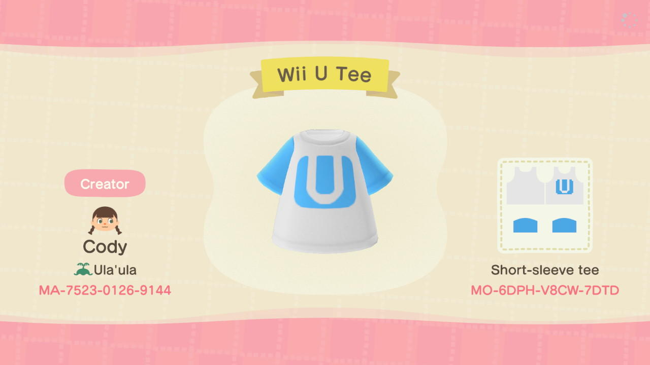 Wii U Tee - Animal Crossing: New Horizons Custom Design