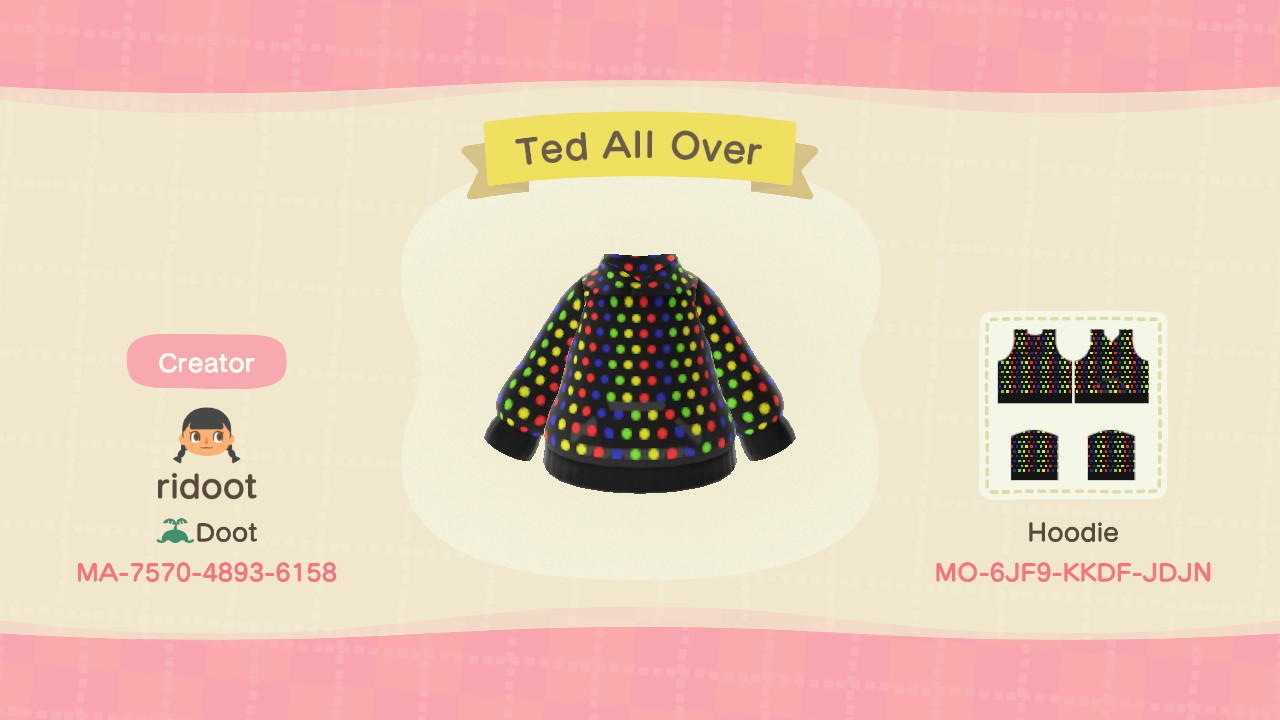 Ted All Over - Animal Crossing: New Horizons Custom Design