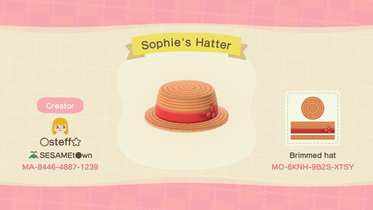 Sophie's Hatter - Animal Crossing: New Horizons Custom Design