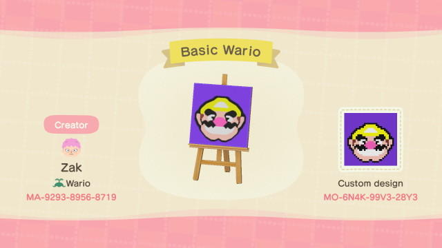 Basic Wario - Animal Crossing: New Horizons Custom Design
