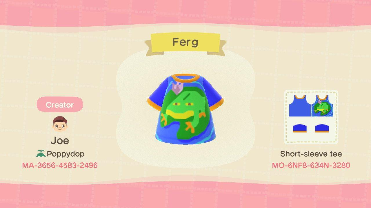 Frog (Ferg) - Animal Crossing: New Horizons Custom Design