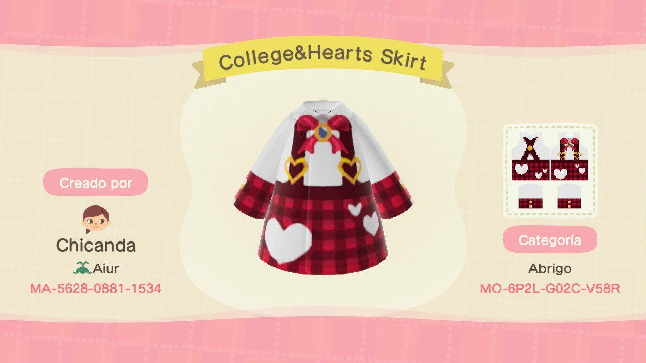 College&Hearts Skirt - Animal Crossing: New Horizons Custom Design
