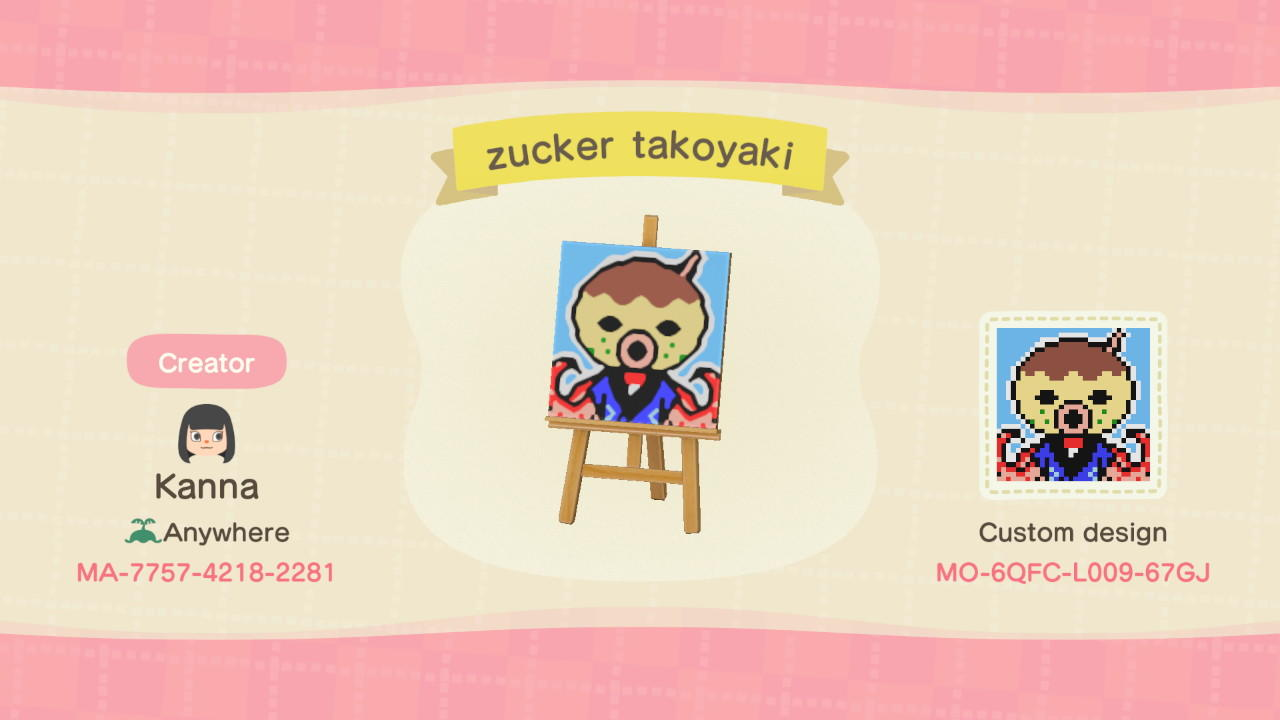 Zucker Takoyaki - Animal Crossing: New Horizons Custom Design
