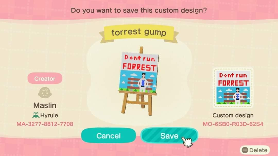 Don't run  - Animal Crossing: New Horizons Custom Design