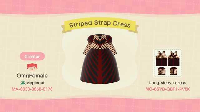 Striped Strap Dress - Animal Crossing: New Horizons Custom Design