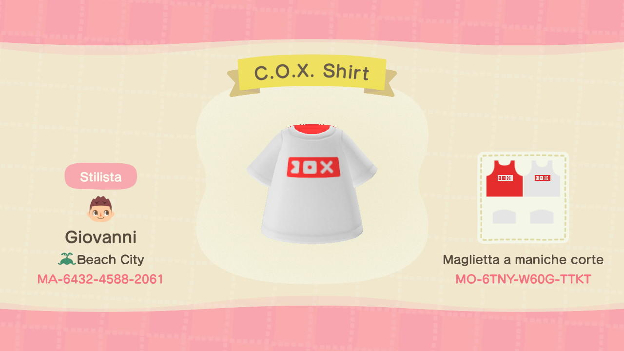 C.O.X. T-Shirt - Animal Crossing: New Horizons Custom Design