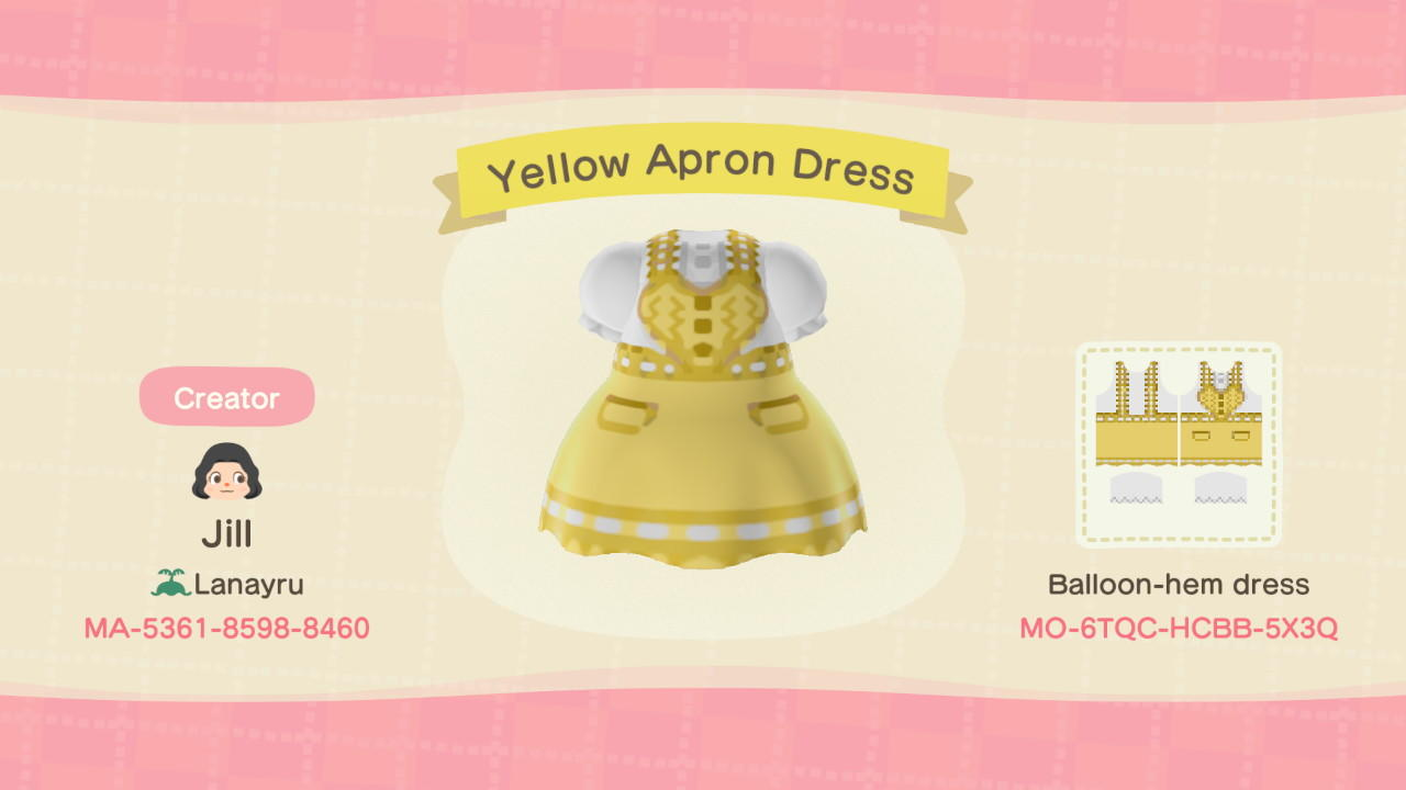 Yellow Apron Dress - Animal Crossing: New Horizons Custom Design