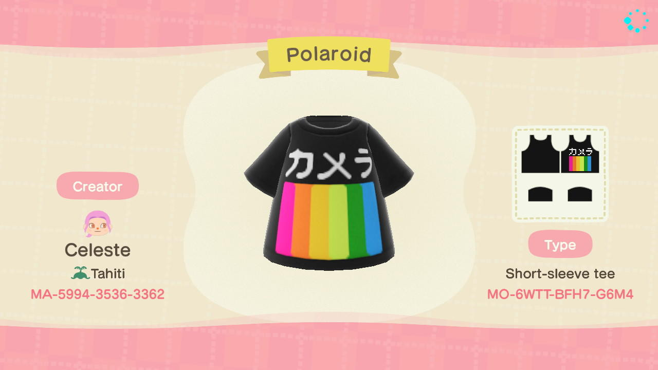 Polaroid - Animal Crossing: New Horizons Custom Design