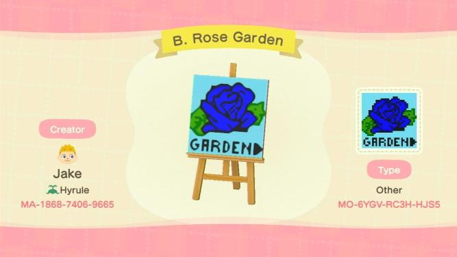 B. Rose Garden - Animal Crossing: New Horizons Custom Design