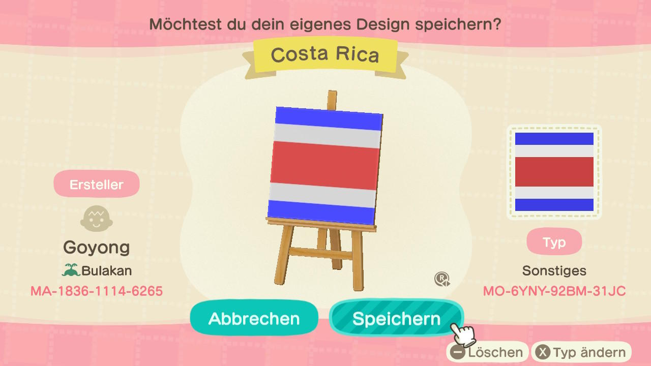 Costa Rica - Animal Crossing: New Horizons Custom Design