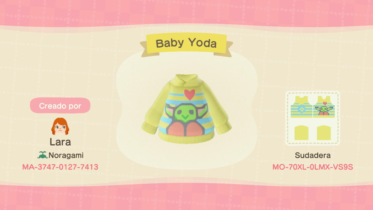 Baby Yoda - Animal Crossing: New Horizons Custom Design