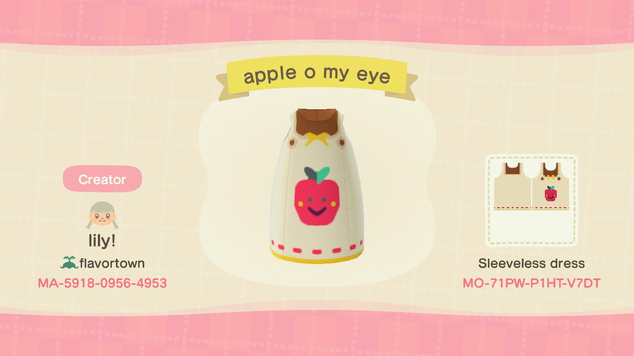 Apple o my eye - Animal Crossing: New Horizons Custom Design