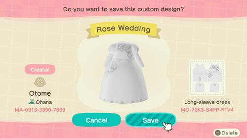 Rose Wedding - Animal Crossing: New Horizons Custom Design