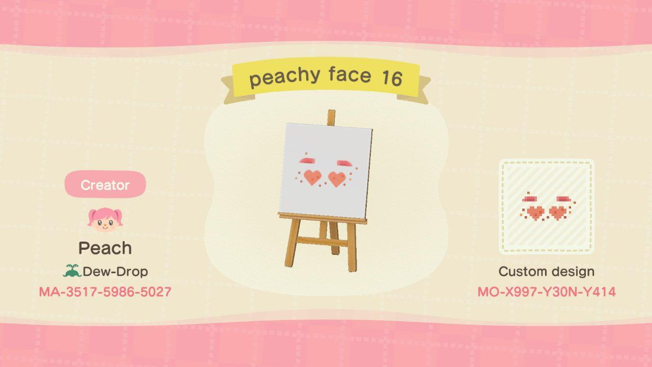 peachy face 16 - Animal Crossing: New Horizons Custom Design