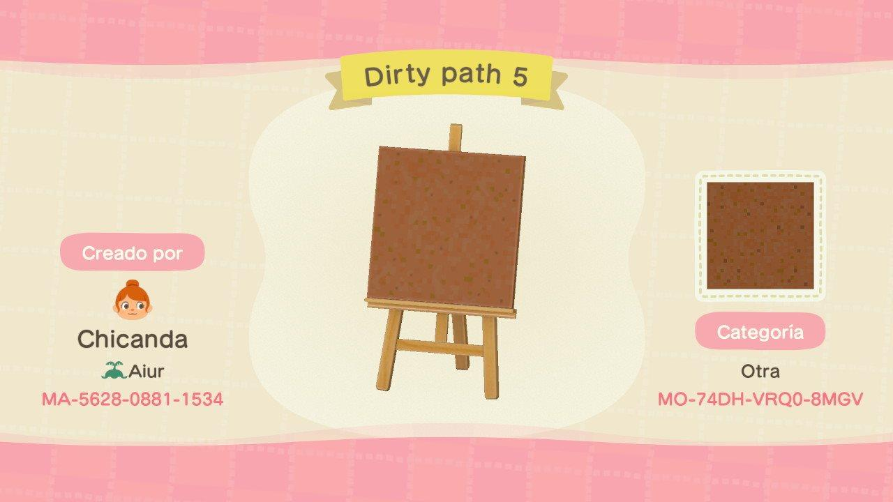 Dirty path 5 - Animal Crossing: New Horizons Custom Design