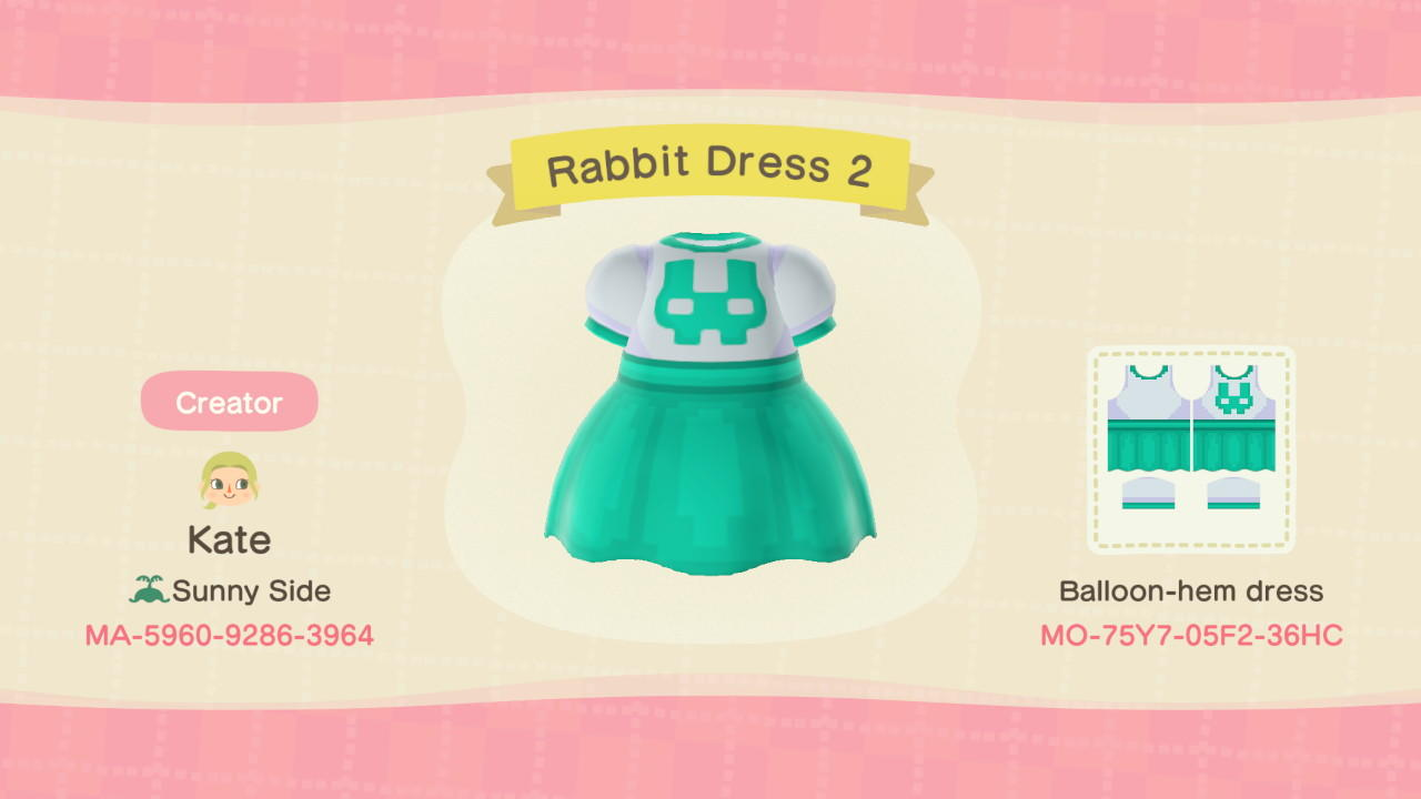 Rabbit Dress 2 - Animal Crossing: New Horizons Custom Design