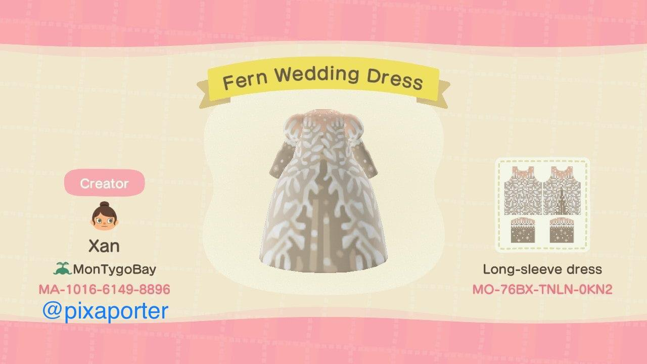 Fern Wedding Dress - Animal Crossing: New Horizons Custom Design