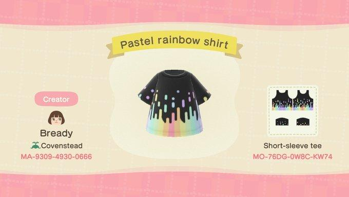 Pastel Rainbow Shirt - Animal Crossing: New Horizons Custom Design