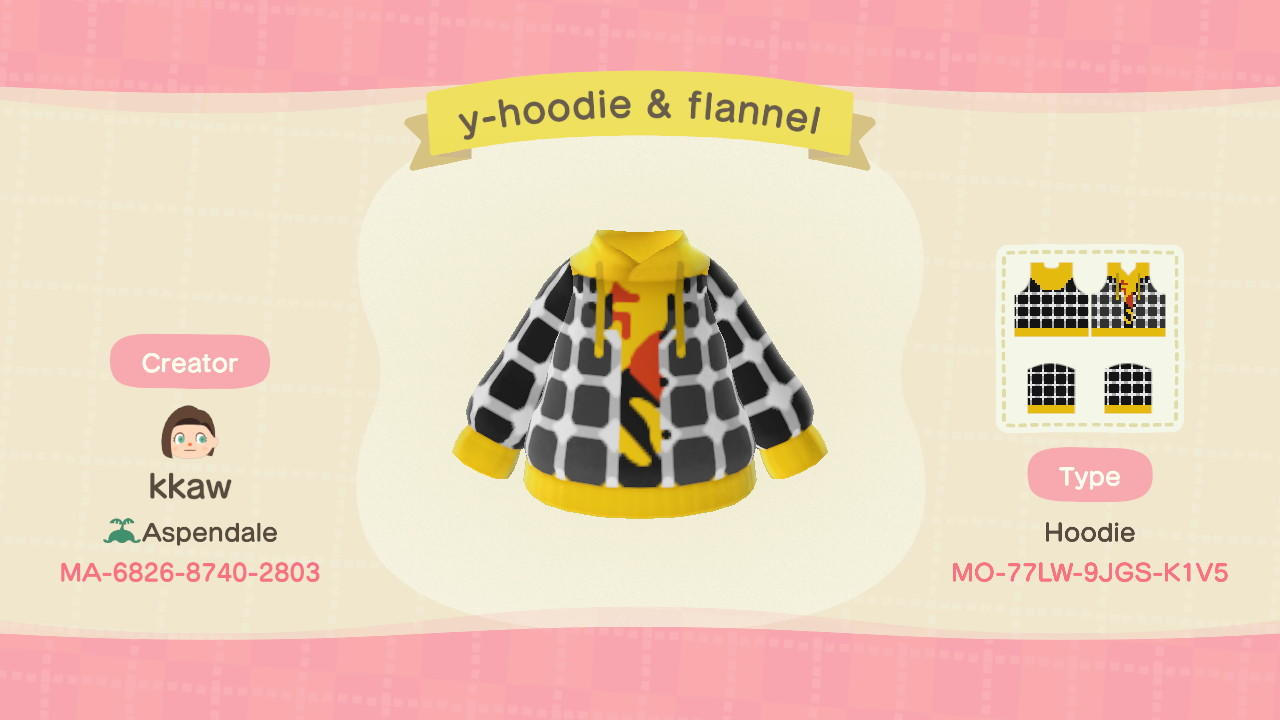 Ylw Hoodie & Flannel - Animal Crossing: New Horizons Custom Design