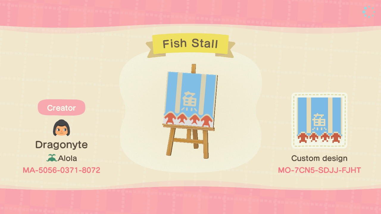 Fish Stall Pattern - Animal Crossing: New Horizons Custom Design