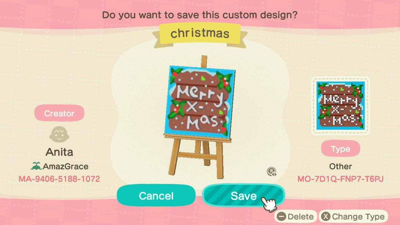 Christmas sign - Animal Crossing: New Horizons Custom Design