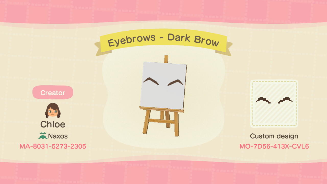 Dark Brown Eyebrows  - Animal Crossing: New Horizons Custom Design