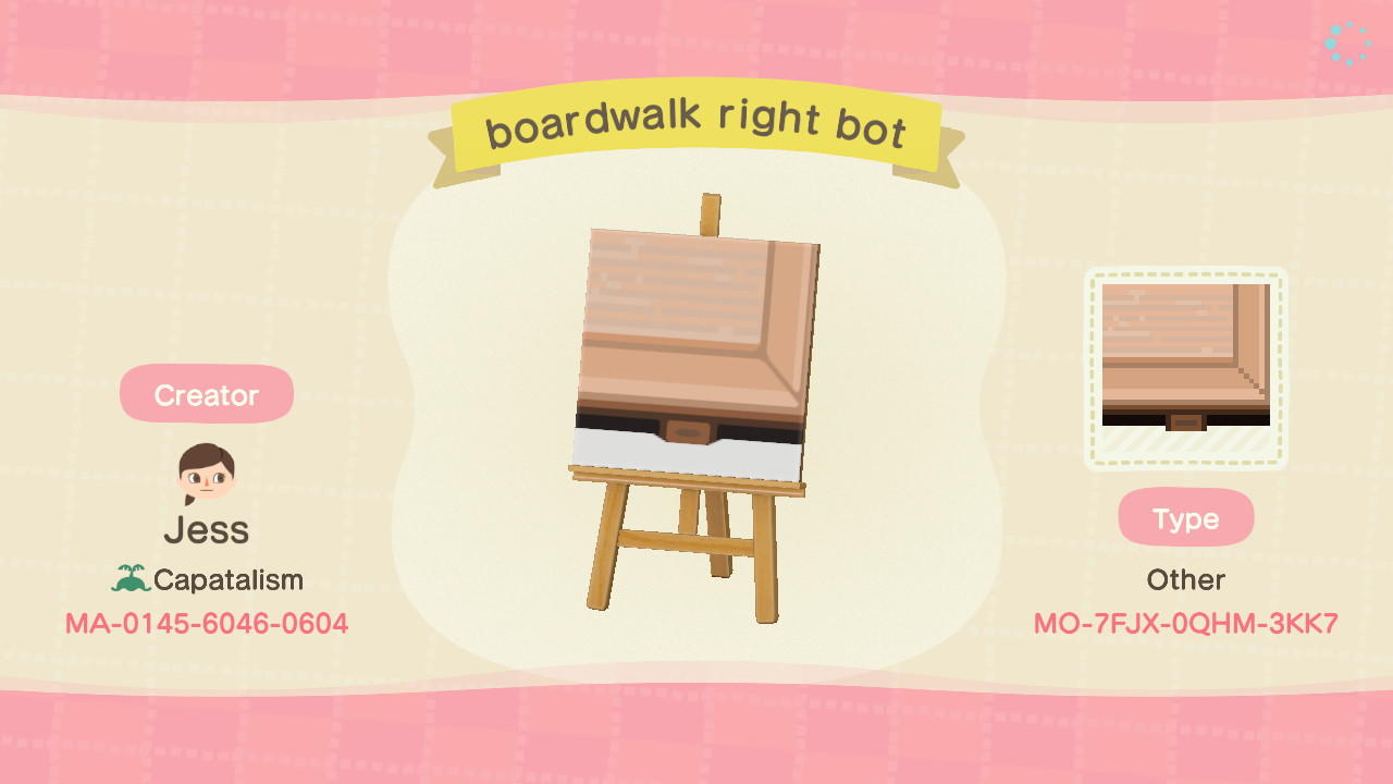 boardwalk right bot - Animal Crossing: New Horizons Custom Design