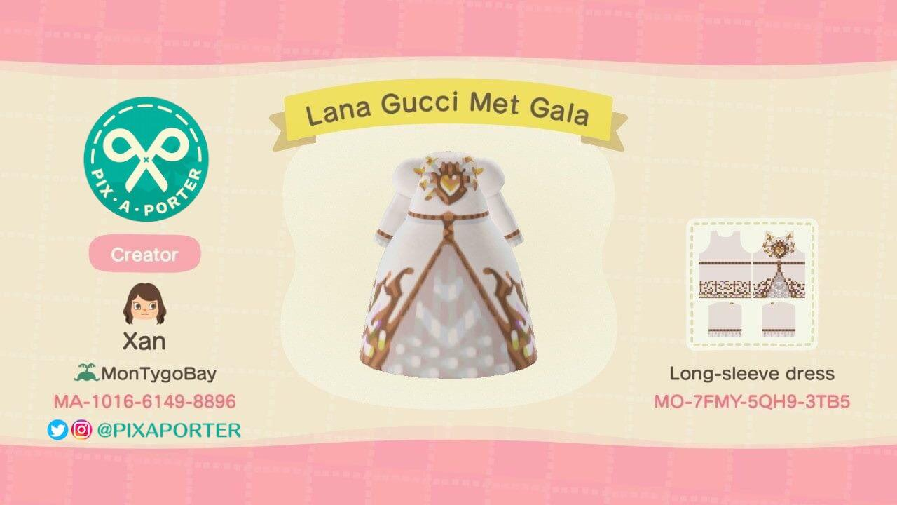 Lana Gucci Met Gala - Animal Crossing: New Horizons Custom Design