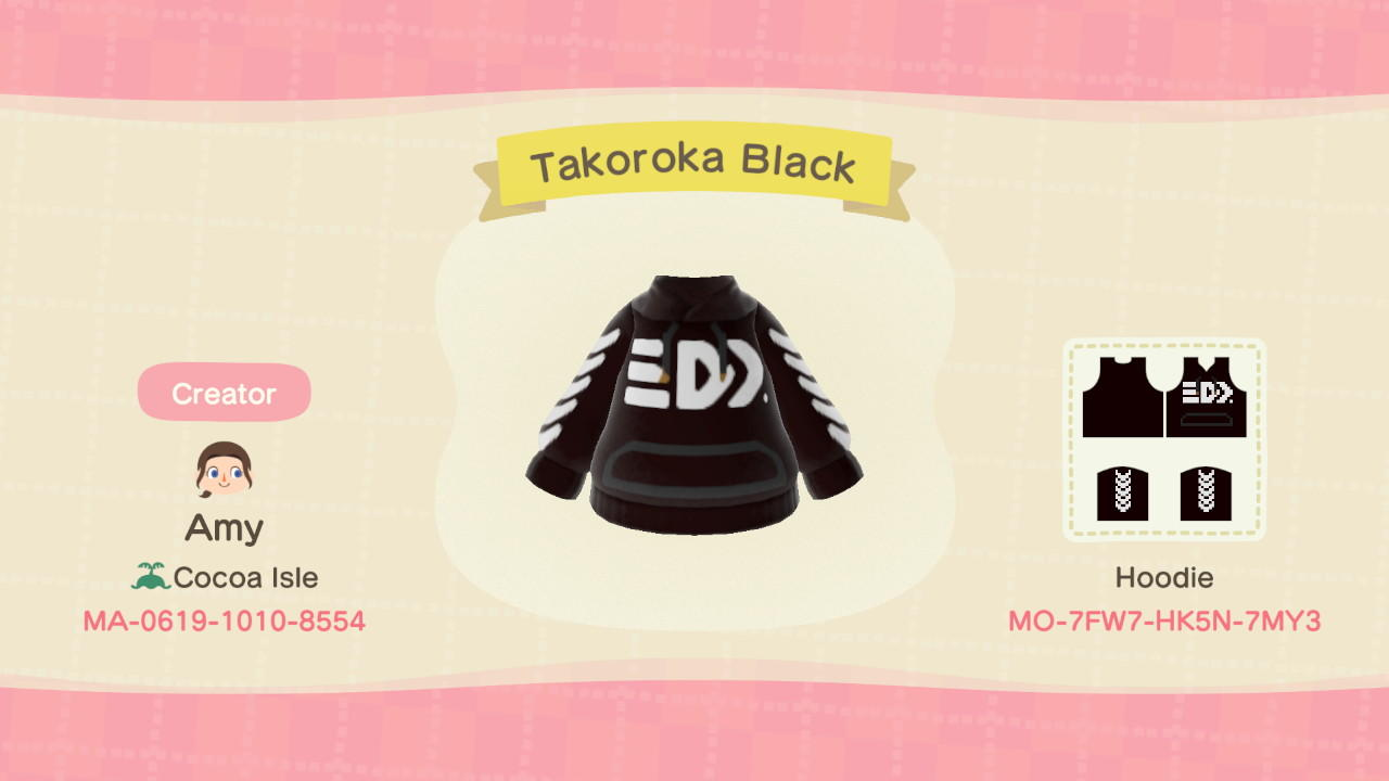 Takoroka Black - Animal Crossing: New Horizons Custom Design