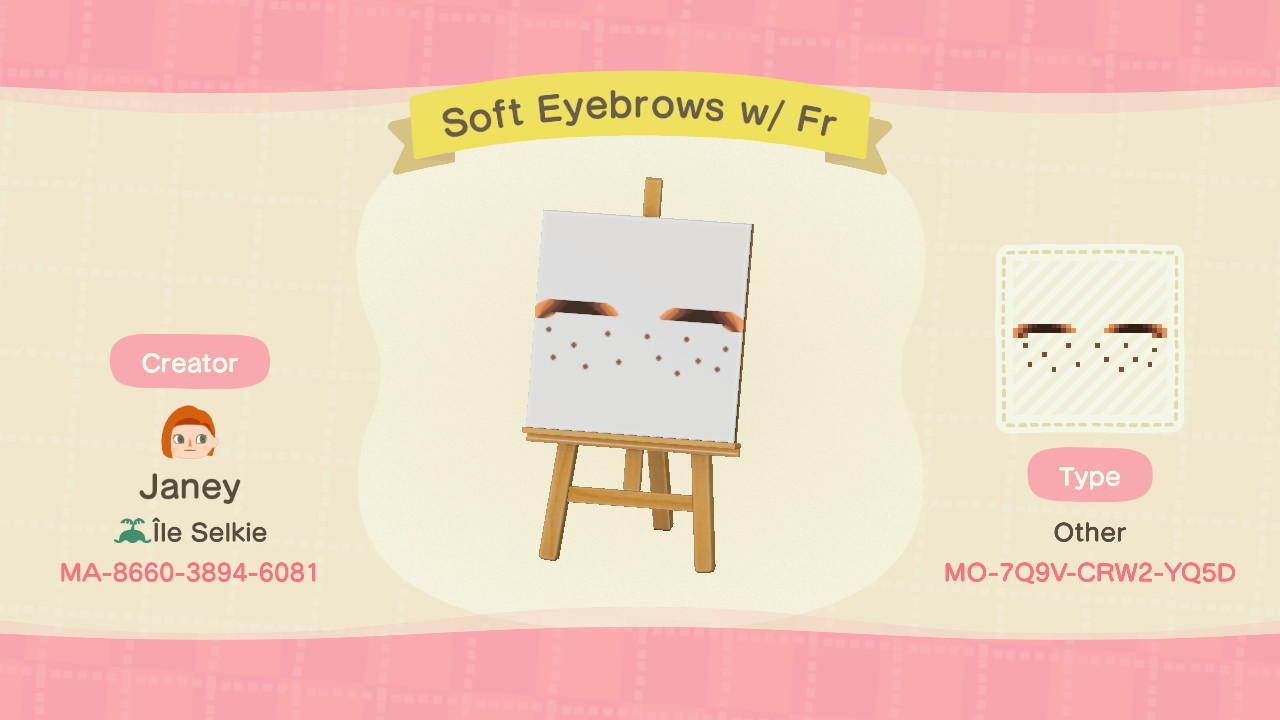 EyebrowsFr: Skin 5 - Animal Crossing: New Horizons Custom Design