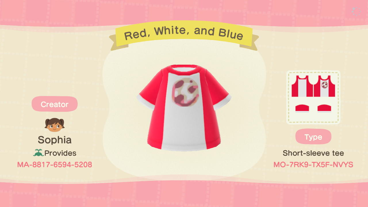 Red, White, and Blue - Animal Crossing: New Horizons Custom Design