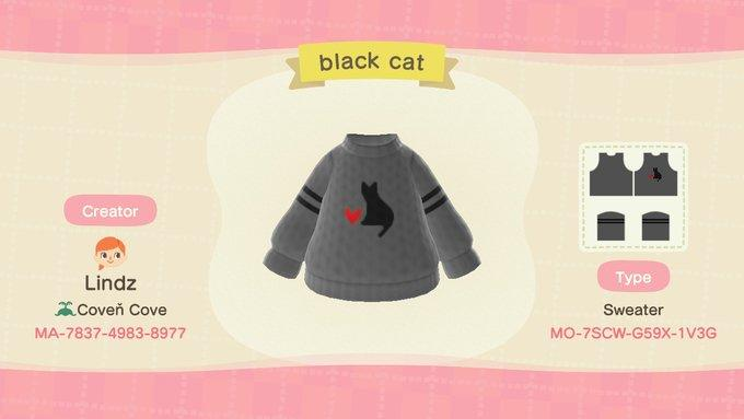 Black Cat - Animal Crossing: New Horizons Custom Design